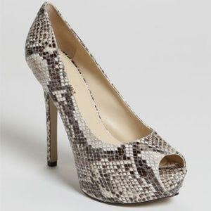 Enzo Angiolini snakeskin platform heels size 10